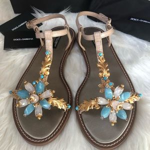 Dolce and Gabbana jeweled extravagant sandals.